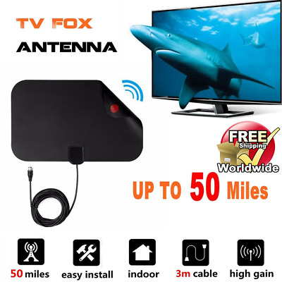 Thin Flat Antenna HD High Def TV Fix Scout HDTV DTV TVfix Skylink Cable Style 1