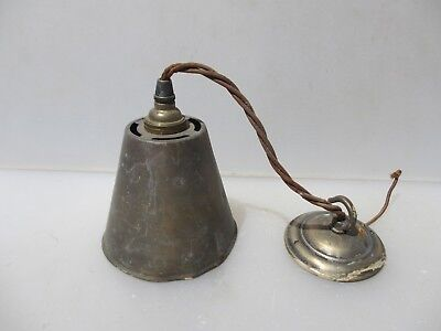 "Vintage Brass Ceiling Light Shade Hanger Hook Rose Art Deco Antique Old 4.5""W"