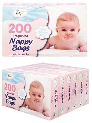 Disposable Scented Waste Bags Nappy Bin Poo Toilet Baby 200 - 800 Diaper Bags