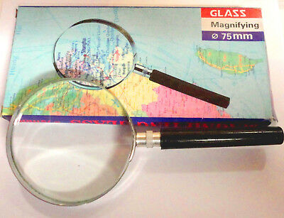 Magnifying Eye Glass Hand Held Classic Magnifier Large 5x Magnification Steel