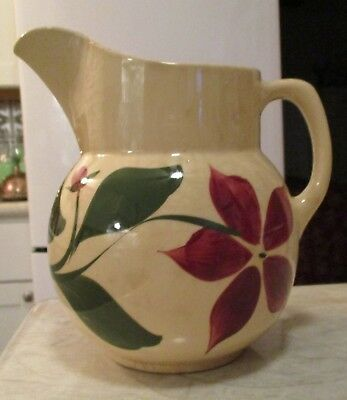 Watt Pottery 5 Petal Starflower #16 Pitcher Star Flower