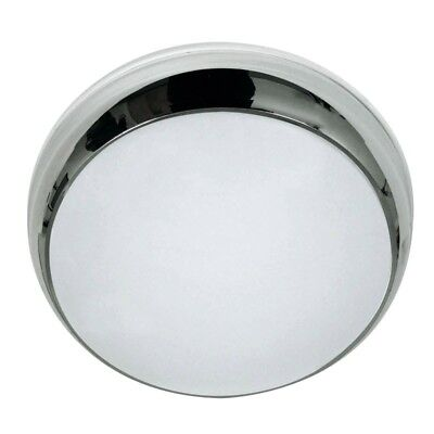LED 3hr Emergency Non/ Maintained Round Chrome Ceiling Dome Bulkhead Light IP65