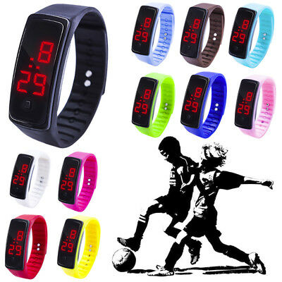 Children Kid Casual LED Digital Display Bracelet Watch Boys Girls Sports Watches