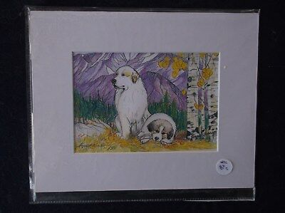 Great Pyrenees- Limited Edition print by Ingrid Jonsson.