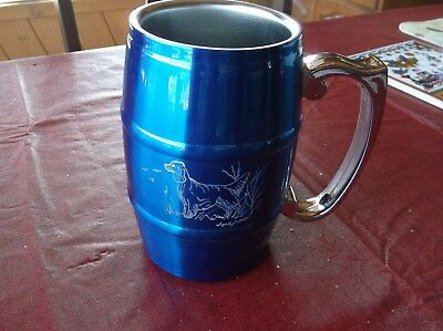 Gordon Setter Hand engraved Stainless Barrel Mug by Ingrid Jonsson.
