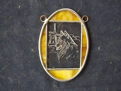 Belgian Sheepdog- Beautifully Hand Engraved Glass Ornament  by Ingrid Jonsson