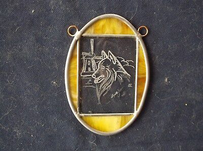 Belgian Sheepdog- Hand Engraved Glass Ornament  by Ingrid Jonsson