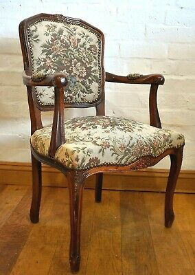 Antique style FRENCH carved armchair / arm chair / desk chair