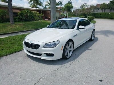 2013 BMW 6-Series M SPORT 640I GRAND COUPE 2013 BMW 6-SERIES 640I GRAND COUPE M SPORT WHITE OVER TAN