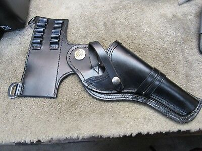 Vintage Black Leather Bucheimer Holster For Colt 38 Special Duty W/ Extension
