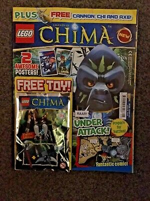 Lego Legends Of Chima Magazine Issue 5 Free toy on front