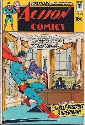 Dc Action Comics #390 July 1970-Legion Of Super-Heroes The Tyrant & The Traitor