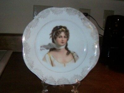 """Lovely Victorian 10"""" Portrait Plate - Wonderful Condition"""