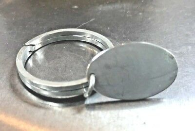 Sterling Silver Disc Key Ring, Can Be Engraved