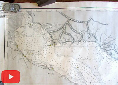 South America Argentina Uruguay 1888 nautical chart Buenos Aires Monte Video map