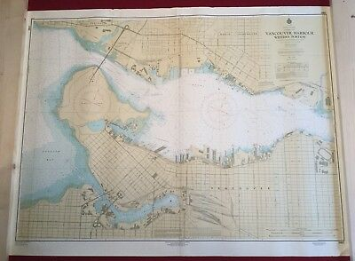 Canadian Hydrographic Services Nautical Chart Vancouver Harbour Western Portion