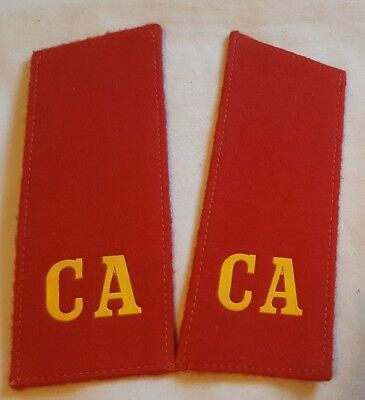 Authentic USSR Soviet Army Motor Rifle Troops Red CA Shoulderboards