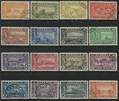 Bahamas KGVI 1948 complete set to £1 used