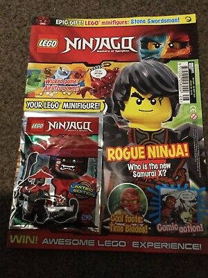 Lego NINJAGO Magazine ISSUE 28 LIMITED EDITION stone swordsman Mini figure.