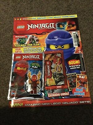 Lego NINJAGO Magazine ISSUE 29 LIMITED EDITION Kai  Mini figure.