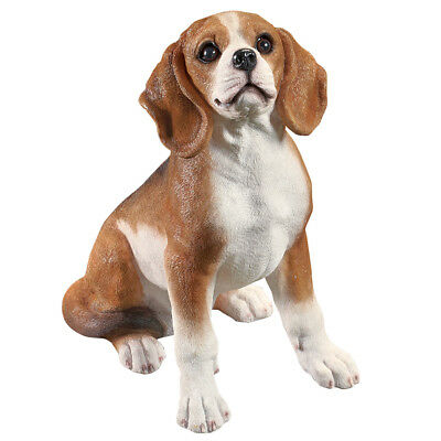 Outdoor Dog Breed Garden Statue Figurine - Beagle Sitting, by Collections Etc