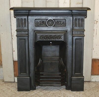 An Attractive Late Victorian Cast Iron Combination Bedroom Fire Fc0031