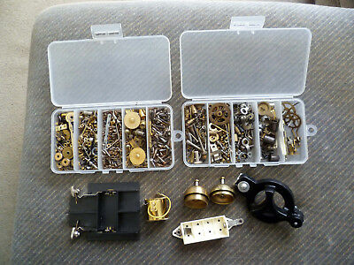 Job Lot of old Vintage Clock parts inc. Smiths escapements and suspensions