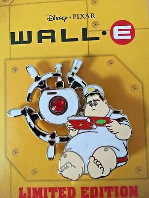 Wall-E 10th Anniversary Spinner Pin 2018 Disney Pixar Captain  McCrea LE 2000