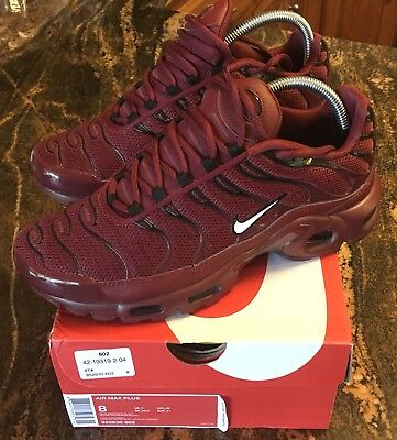 sale retailer d4b0e 89c45 NEW !! NIKE AIR MAX PLUS TN Team Red/Black Tuned Air Shoes Men's Size 8