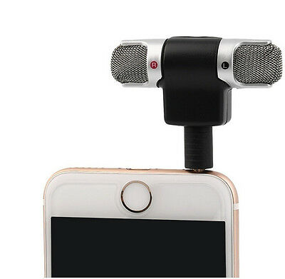 3.5mm Mini Stereo Microphone - Mobile Phone Laptop Recording Mic - Compact Small