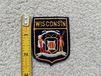WISCONSIN Travel Souvenir Patch - Brand New - Free Shipping
