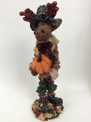 Boyds Bears Icabod Mooselman The Pilgram #2833 Folkstone Collection