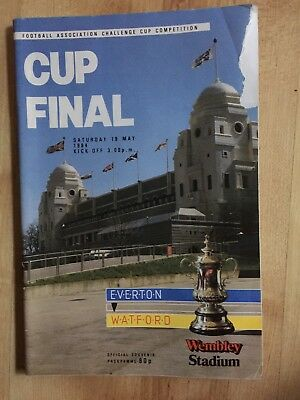 EVERTON V WATFORD ~  FA CUP FINAL 1984 ~ Football Programme Free Postage