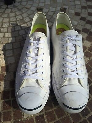 31751065ea97 Men s Converse Jack Purcell White Canvas Limited Edition Shoes Size 11.5