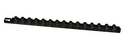 "Ernst 8422 18"" Socket Organizer Rail with 15 1/2"" Twist Lock Clips - Black"