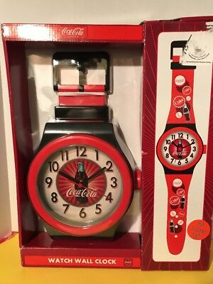 Vintage Coca Cola watch wall clock vintage 36 Inches Tall Brand Rare