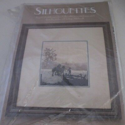 "Counted cross stitch kit heritage stitchcraft silhouettes ""off to plough"" new"