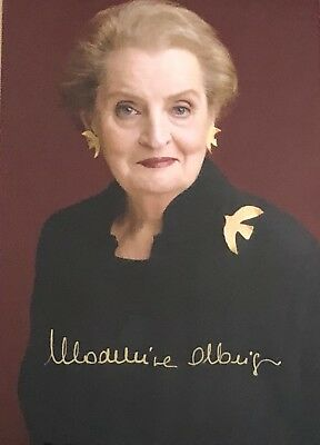 MADELEINE ALBRIGHT autographed signed 5X7