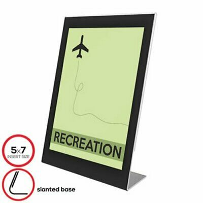 Deflect-O Superior Image Black Border Sign Holder, 5 x 7, Black/Clear (DEF69575)