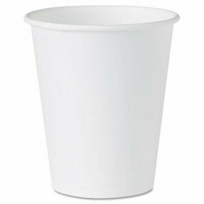 Solo Cup Company White Paper Water Cups, 4 oz., White, 100/Pack (SCC404)