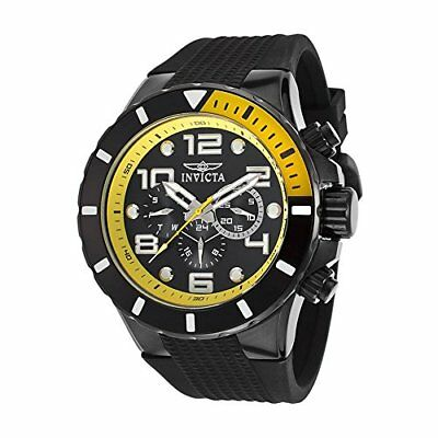 Invicta Men's Pro Diver Chrono 100m Stainless Steel Black Plastic Watch 18741