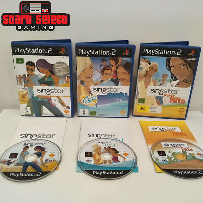 3x Ultimate Pack of PS2 SingStar Party & Hits Games PAL VGC CIB FREE POST
