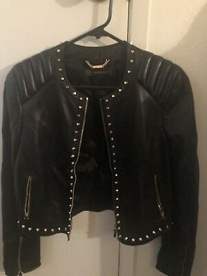 9d3c9fe59522 VERSACE LADIES WOMEN S LEATHER Jacket -  1