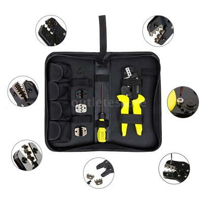 Professional Wire Cable Ratcheting Terminal Crimping Tool Crimping Pliers Kit