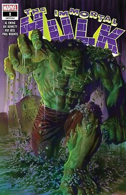 The Immortal Hulk #1 Alex Ross Main Cover First Printing Marvel 2018 Cc