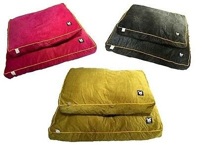 Cushion dog bed pet bed by Mr Barker available in 2 sizes and 3 colours dog beds