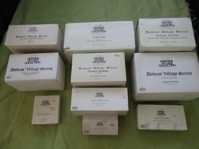 DEPT 56 Mixed Lot of 12 HERITAGE VILLAGE COLLECTION Dickens Village Series Items