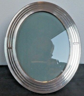 Lovely Vintage Christofle France Silver Plated Oval Picture Frame