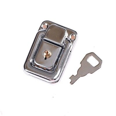 J402 Cabinet Box Square Lock With Key Spring Latch Catch Toggle Locks Hasp UK