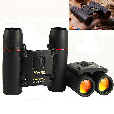 Latest 30 x 60 Zoom Mini Compact Binoculars Telescopes Day Foldable UK